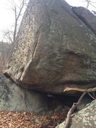 Rock Climbing Photo: The Pinch Problem on The Pinch Boulder.