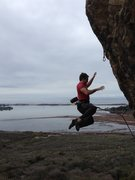 Rock Climbing Photo: Arthur Wesley on a redpoint burn of Brown Smoothie...