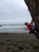 Rock Climbing Photo: Arthur Wesley looking for his next hold on Brown S...
