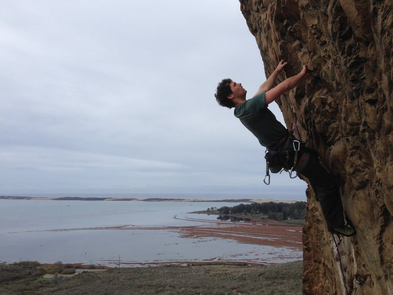 Rock Climbing Photo: Ryan Cerf looking for his next hold on Brown Smoot...