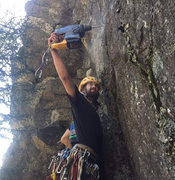 Rock Climbing Photo: drilling on a new project hopefully it will be ope...