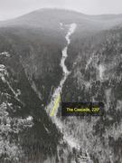 Rock Climbing Photo: Cascade Mountain Slide (Jan 2017) viewed from Pitc...