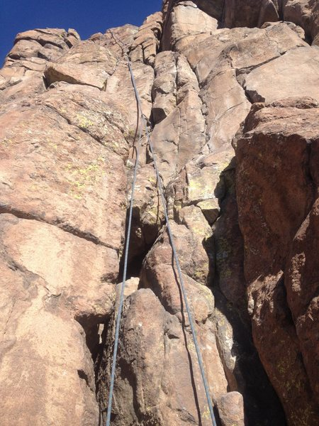 Rock Climbing Photo: The rope is on the climb except at the top where i...