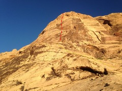 Rock Climbing Photo: The Eagle wall seen from the approach ramp. There&...