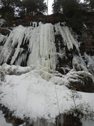 Rock Climbing Photo: February 7th, 2017. The only climbable WI5 ice on ...