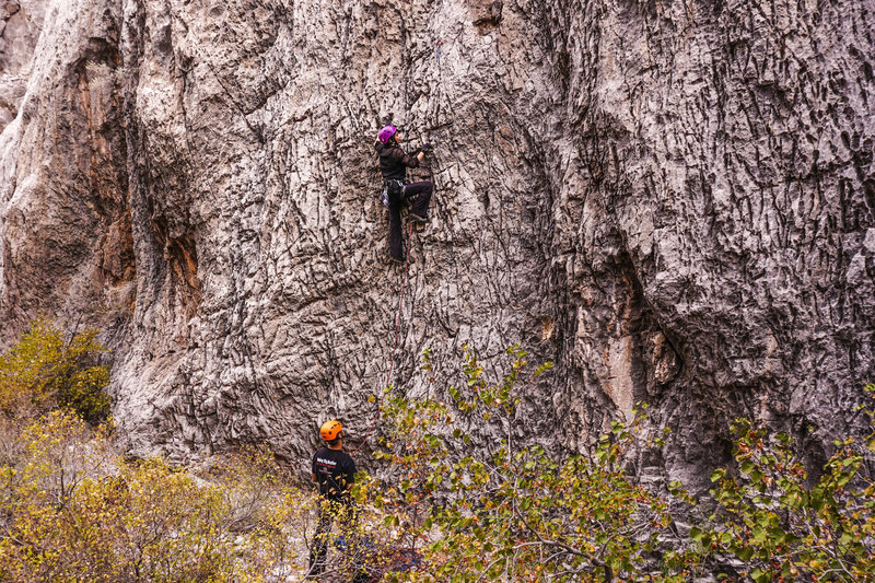 Rock Climbing Photo: Gigi on Water Witch.