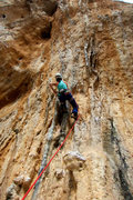 Rock Climbing Photo: Starting up the cool features of Bobo Dodo. April ...