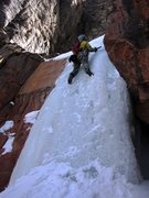 Rock Climbing Photo: First pitch of Hidden Haven - Brian Cabe climbing....