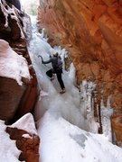 Rock Climbing Photo: Matt Scullion climbing one of the middle pitches o...