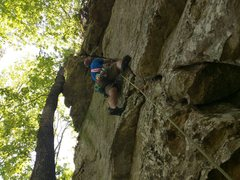 Rock Climbing Photo: Michael finds good gear as he moves up along the c...