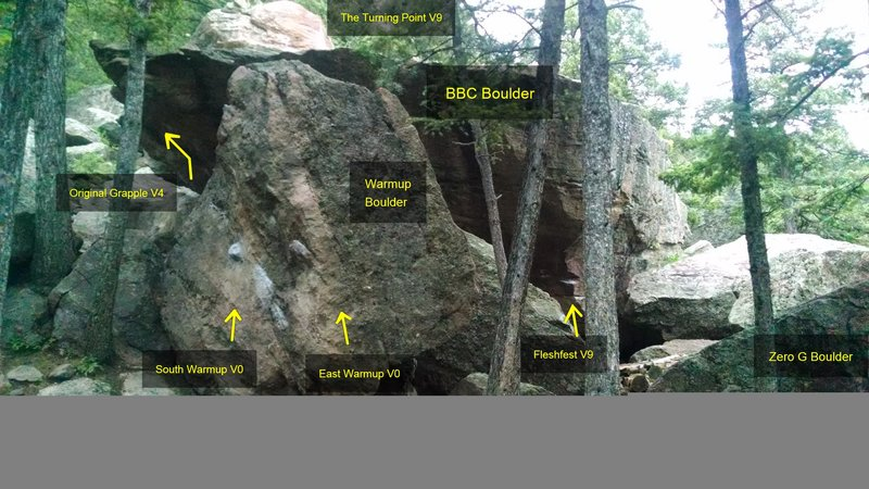BBC Boulder.<br> <br> A view of the east side.