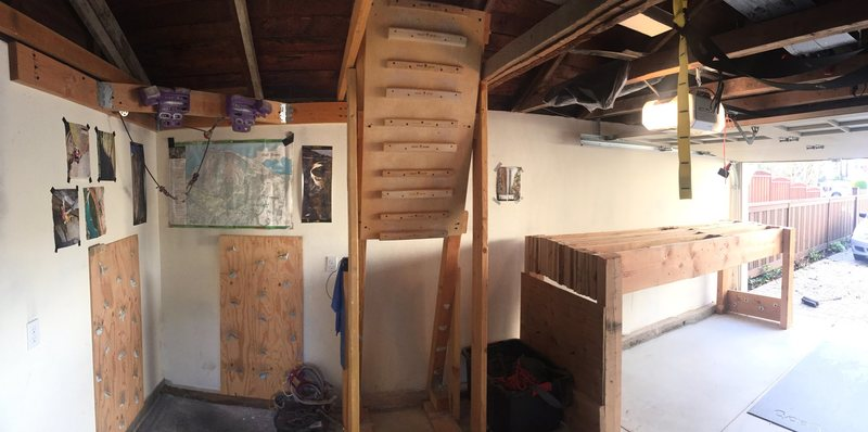 Rock Climbing Photo: Pano shot of the woody workout den