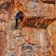 Rock Climbing Photo: running it out on ringtail. draws are hung on plan...