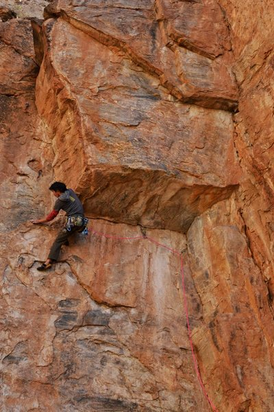 Rock Climbing Photo: pulling over the lip photo: Todd Bukowski