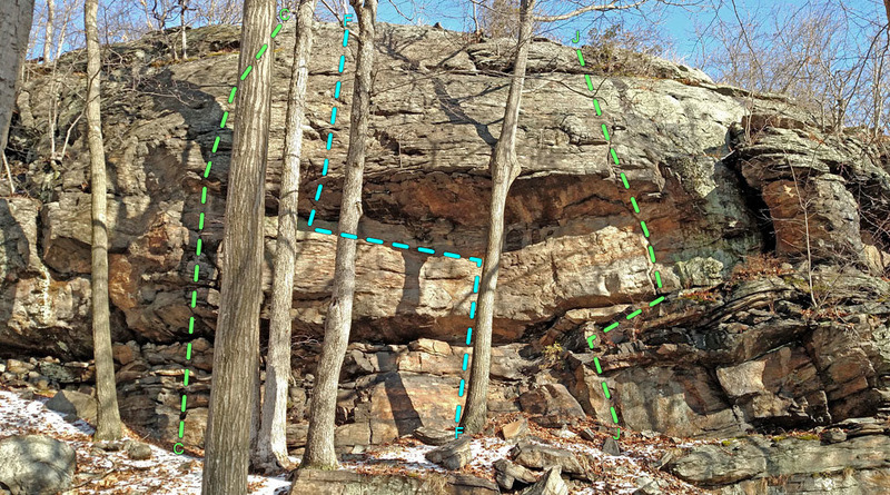 Rock Climbing Photo: Proving Grounds roof (seen from SE), in sector Car...