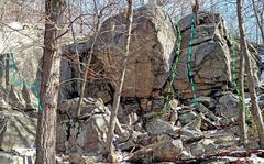Rock Climbing Photo: Wichquawanck sector : Right side ... L. Biltong M....