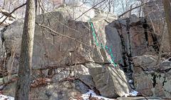 Rock Climbing Photo: Wichquawanck - Left + Center: F. Biltong