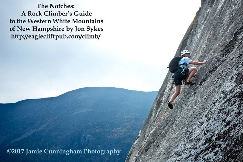 This is the original photograph I took which was used on the cover of Jon Sykes new book, The Notches: A Climber&@POUND@39@SEMICOLON@s Guide to the Western White Mountains of New Hampshire.