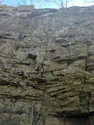 Rock Climbing Photo: Draws are hanging on the wall showing the way up t...