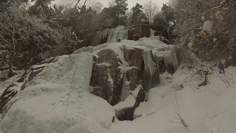 Rock Climbing Photo: Pegasus  Thin conditions on 2/11/2017