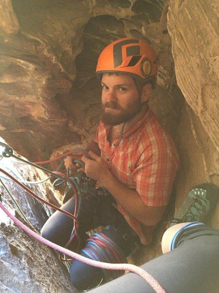 Rock Climbing Photo: Long-time favorite route, Sandy Hole.