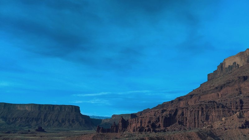The Colorado River from Fisher Towers.<br>