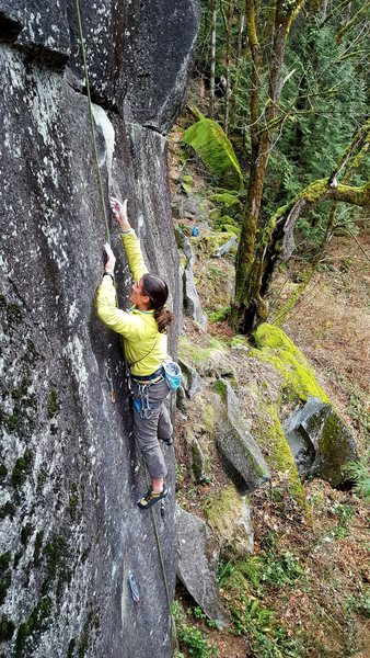Rock Climbing Photo: Mike TR soloing