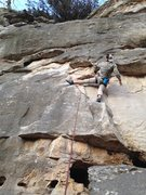Rock Climbing Photo: Jugs to underclings and smears then back to a jug ...