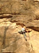 Rock Climbing Photo: Emily Temple working up her first ascent of Cheate...