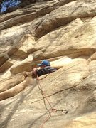 Rock Climbing Photo: OK, not the way to climb the route.