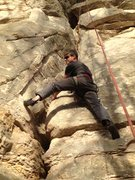 Rock Climbing Photo: Be sure to keep a wide stance if you want to lead ...