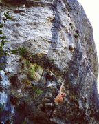 Rock Climbing Photo: Low crux boulder problem of Irreverent Youth