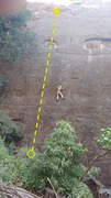 Rock Climbing Photo: The route is just left of the climber in the photo...