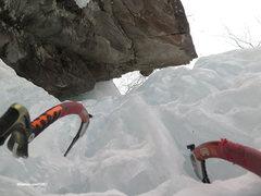 Rock Climbing Photo: winter climbing