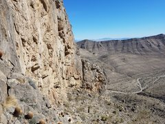 Rodeo wall, looking east