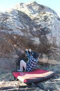 Rock Climbing Photo: Shawn on the sit start.