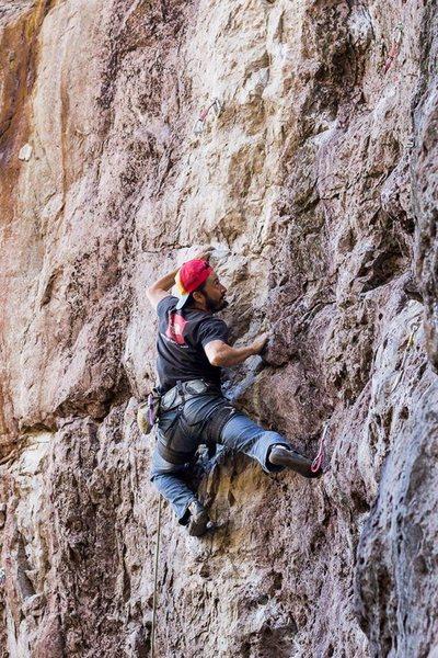 Rock Climbing Photo: crux de centauro 13a/ la meca oaxaca