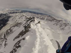 Rock Climbing Photo: Looking back at the beginning of the knife edge - ...