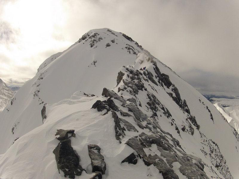 View of the summit. A beautiful winter peak - 21 Jan. 2017.