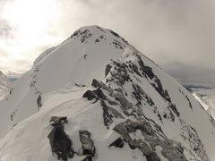 Rock Climbing Photo: View of the summit. A beautiful winter peak - 21 J...