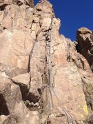 Rock Climbing Photo: The rope is on the climb.