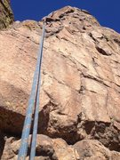 Rock Climbing Photo: The area by the bolt.