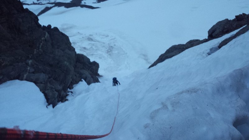 Climbing around Iceberg Lake Alaska
