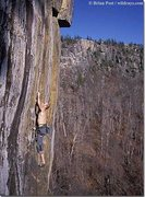 Rock Climbing Photo: Dec 2001, first crux right off the belay. Photo cr...