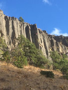 Rock Climbing Photo: Left climber is on Tragically Hip.