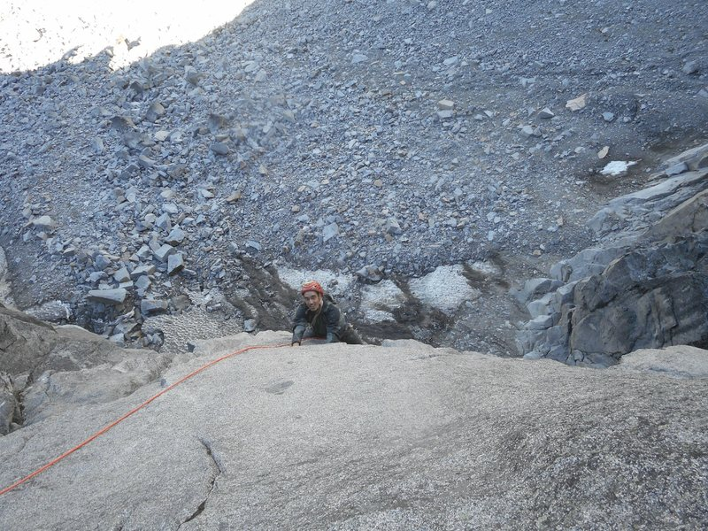 Rock Climbing Photo: Sol finishing up the Monkey Traverse