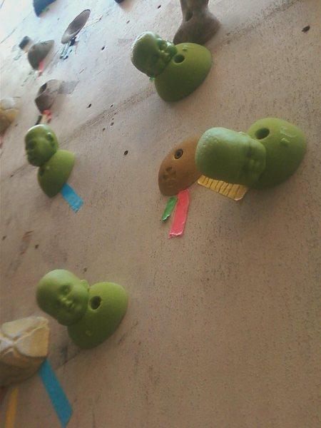 Rock Climbing Photo: Baby heads