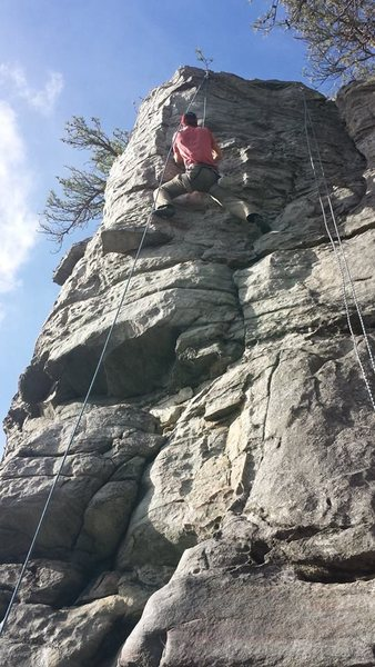 Rock Climbing Photo: Climb up the middle of the buttress.  What is part...
