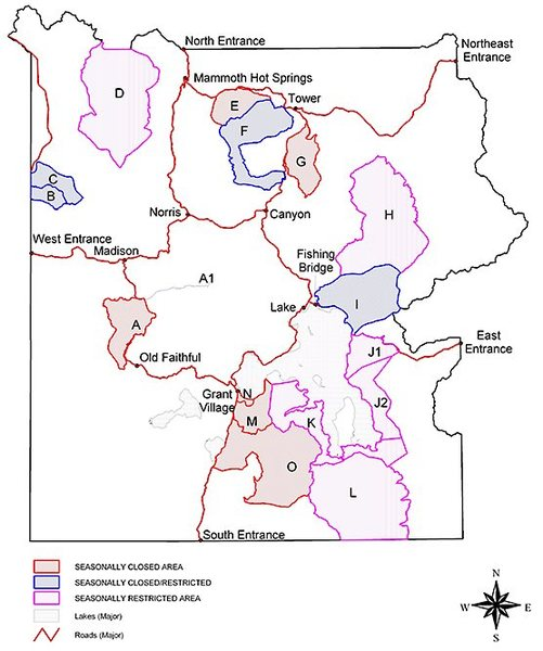Yellowstone Bear Management Areas
