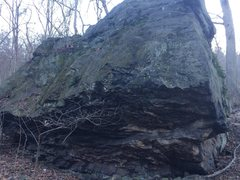 Rock Climbing Photo: The overhanging side of the boulder. The bottom ha...